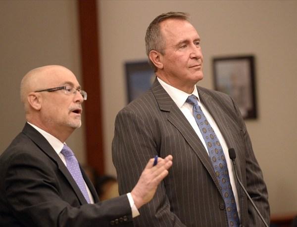 Al Hartmann  _  The Salt Lake TribuneFormer Utah Attorney General Mark Shurtleff stands with his attorney Richard Van Wagoner, l_6788038416042640165