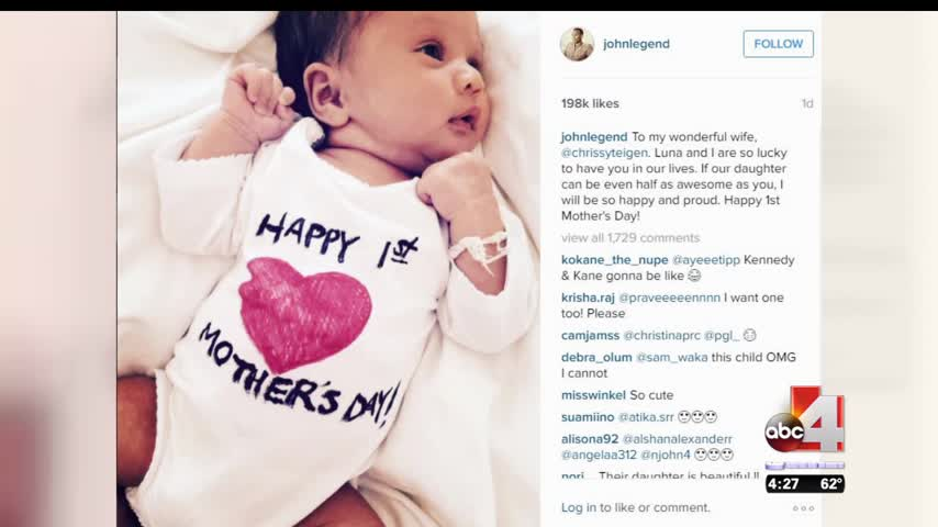John Legend Celebrates Chrissy Teigen-s First Mother-s Day_57125658-159532