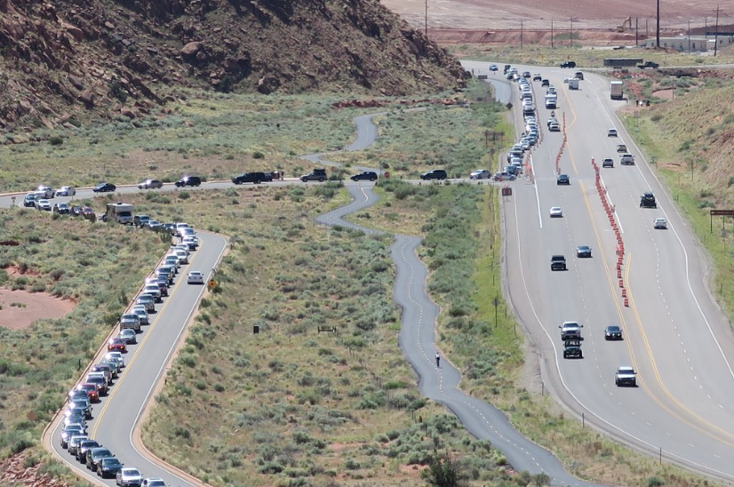 traffic at arches national park