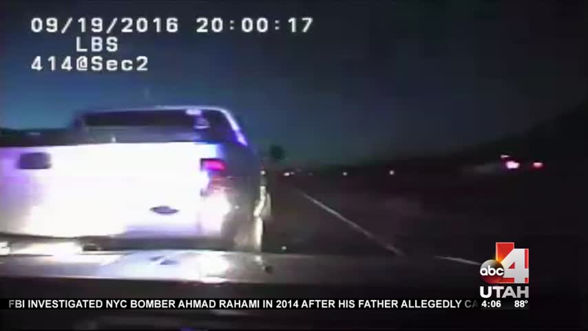 Suspect rams UHP patrol car with trooper inside_20160920234515