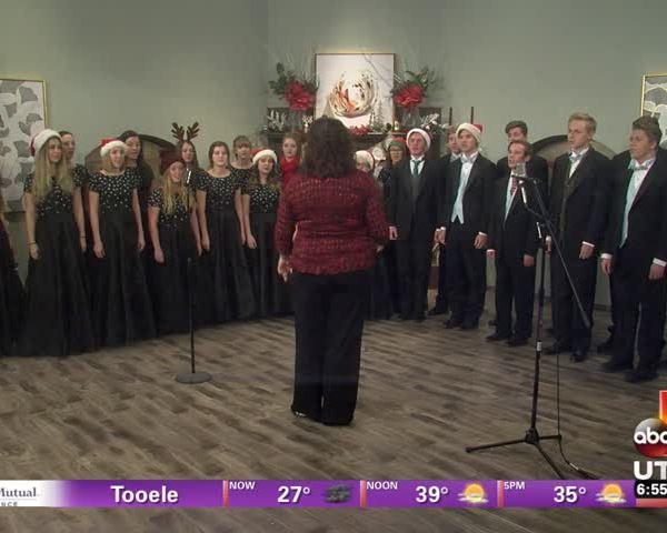 Local High School Singing On-Set!