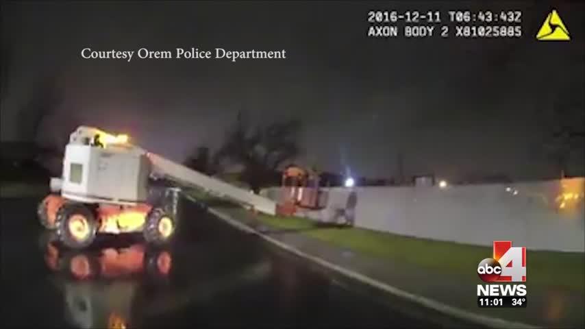 Man under arrest for driving cherry picker under the influen_66212761