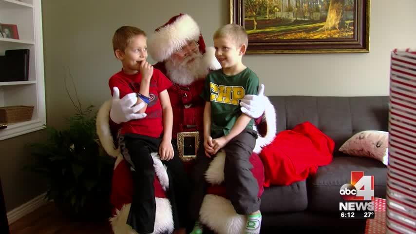Santa stops to visit fallen UHP trooper's children