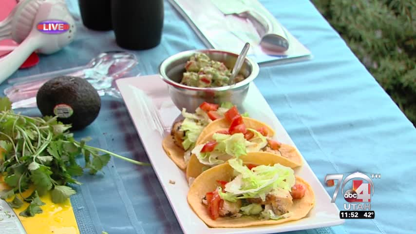 Lime Chicken Taco with Guacamole
