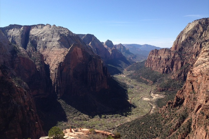 view from Angels Landing Zion National Park _6454553228333960791