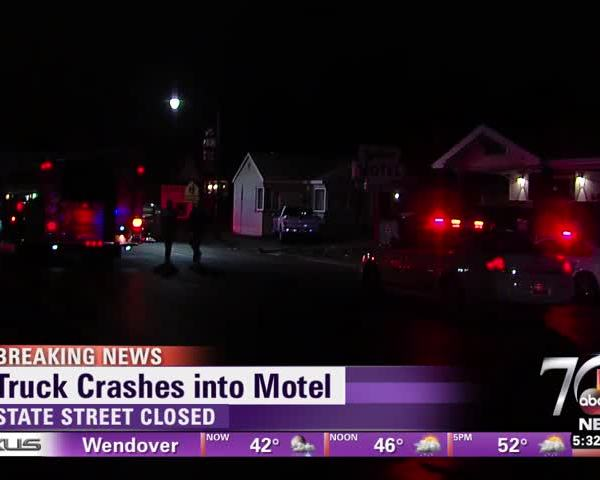 Truck crashes into motel_27021962