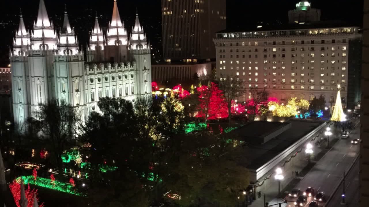 Temple Square Christmas 2020 2020 Temple Square Christmas lights display goes virtual | ABC4 Utah