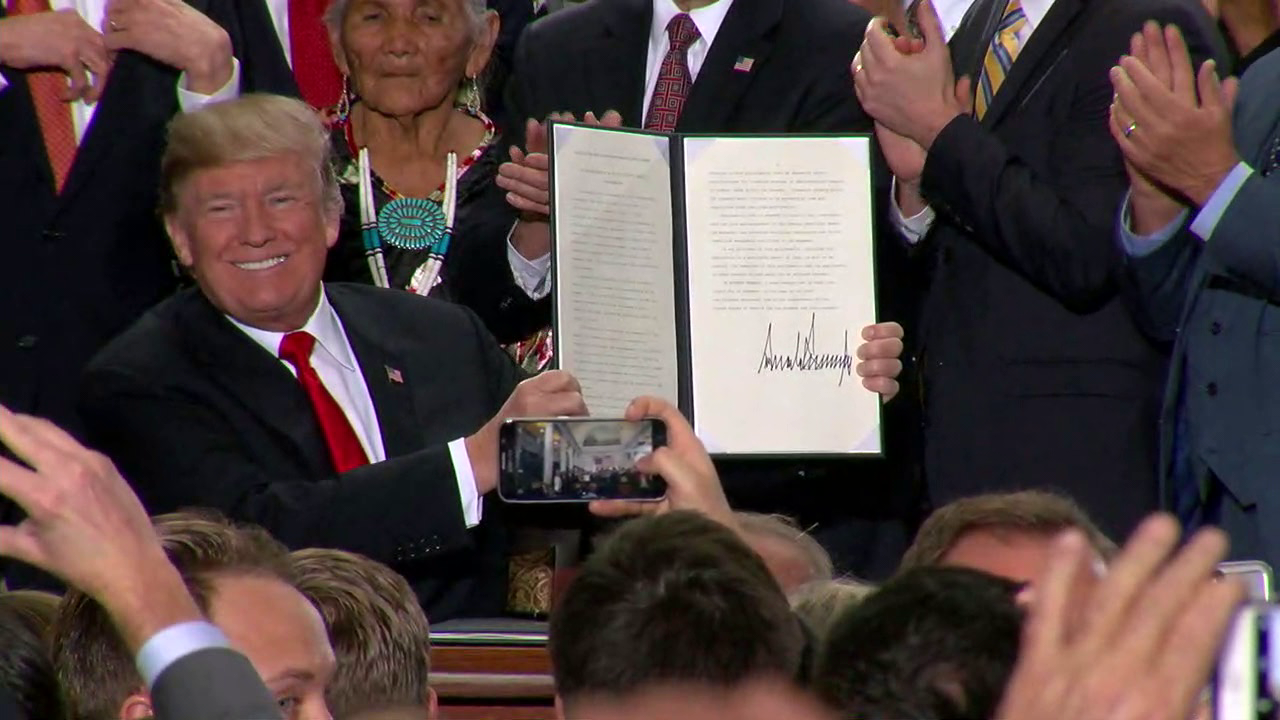 TRUMP SIGNS PROCLAMATIONS