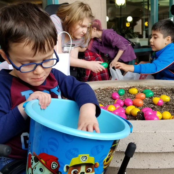 Shriner's Hospital Easter Egg hunt