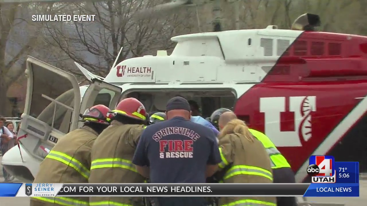 """""""Mock Crash"""" teaches Springville High students about distracted and drunk driving"""