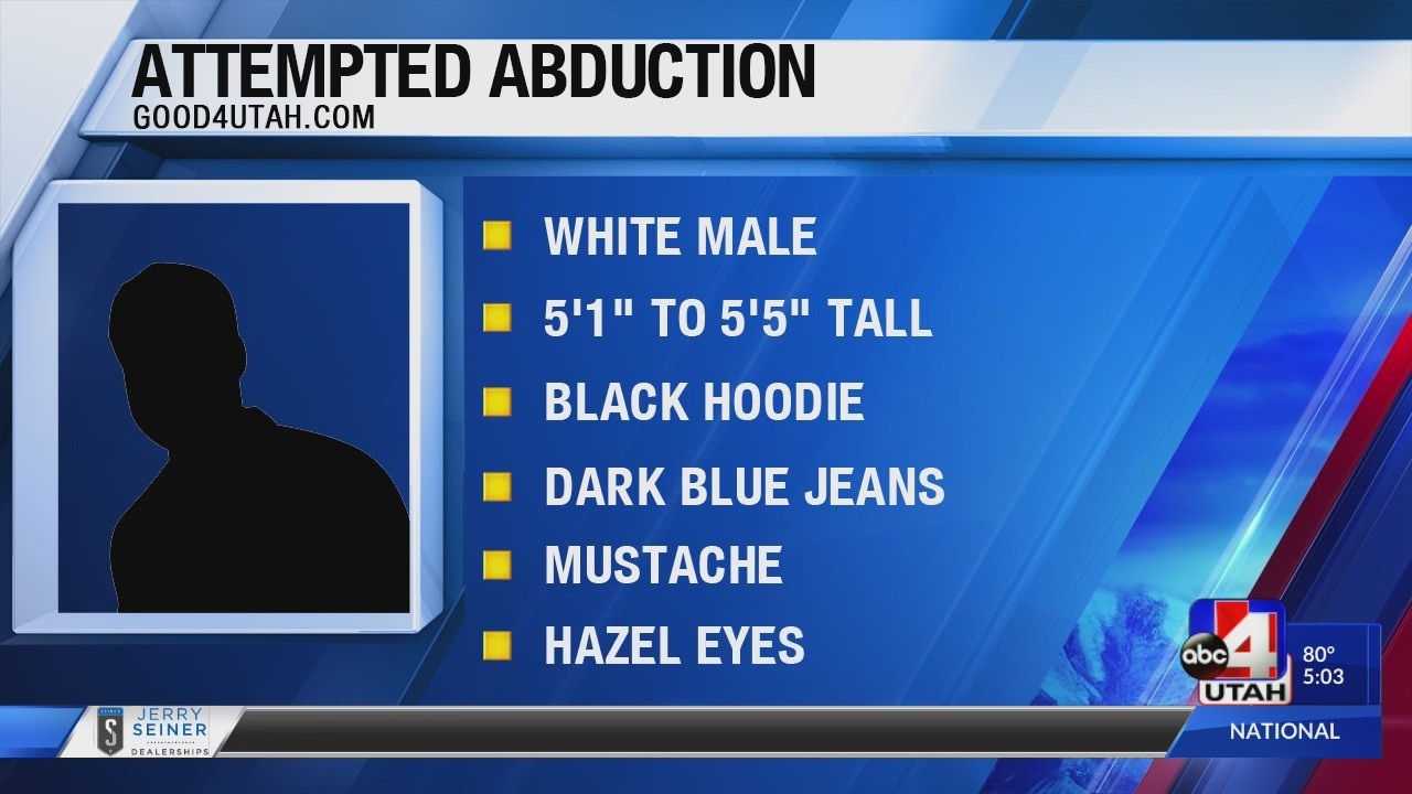 South Jordan police investigating attempted child abduction