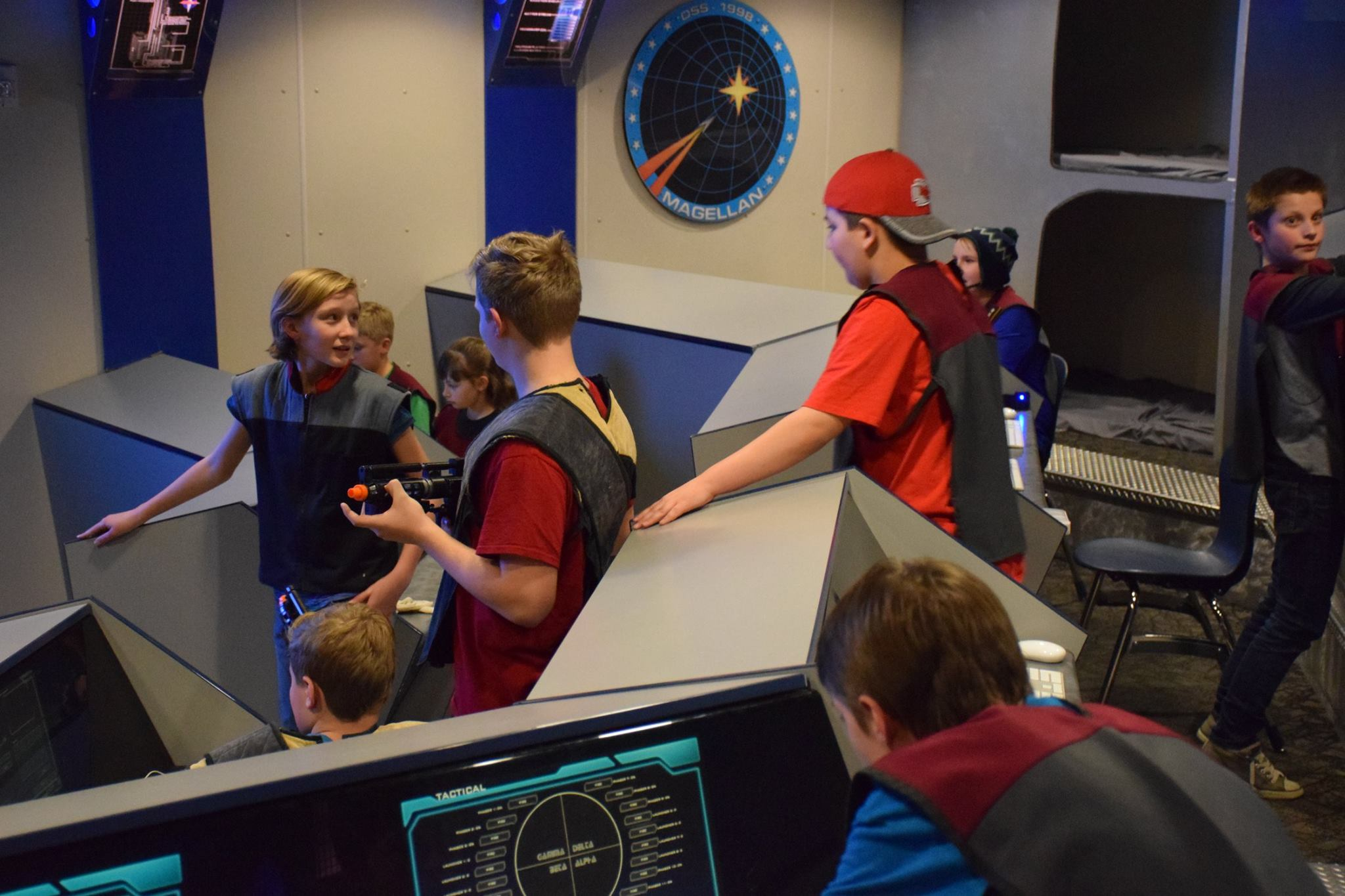 Captain Emme T gets her crews input during a summer camp at the Space Center on the USS Magellan_1529525291881.jpg.jpg