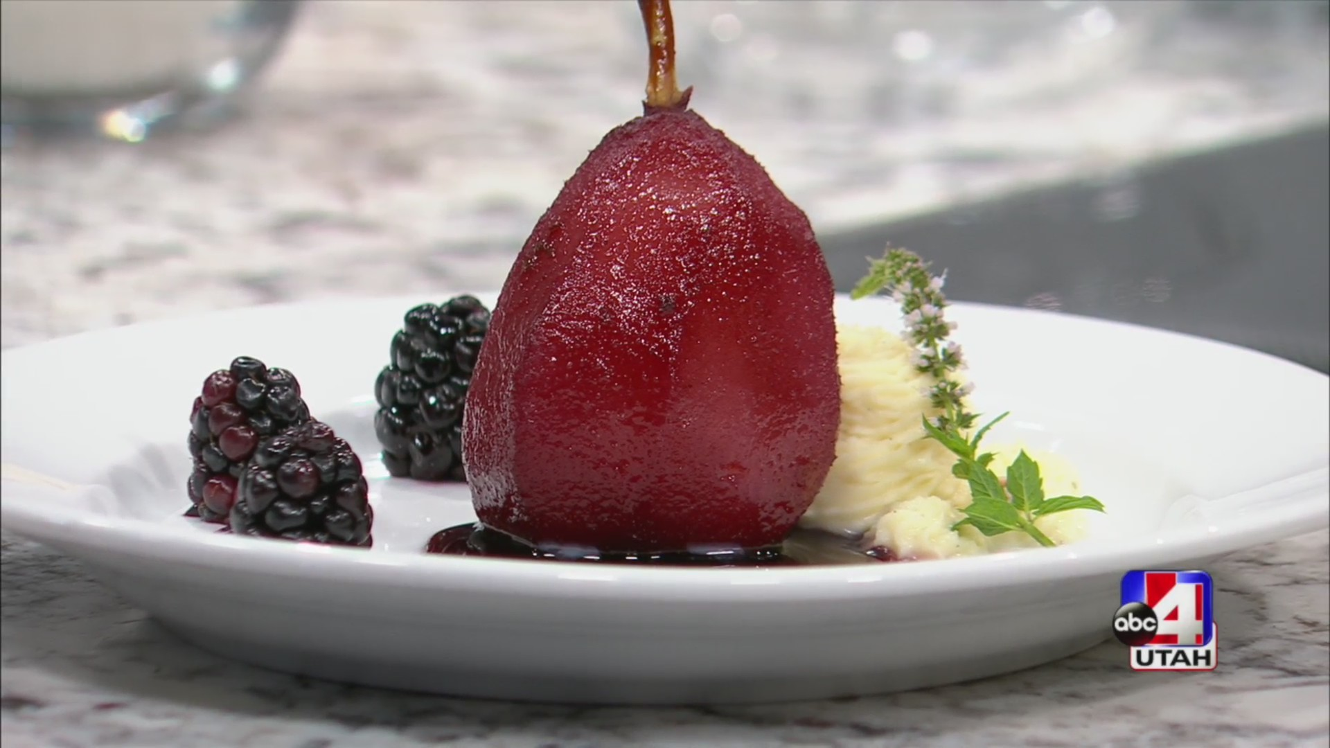 Merlot Poached Pear