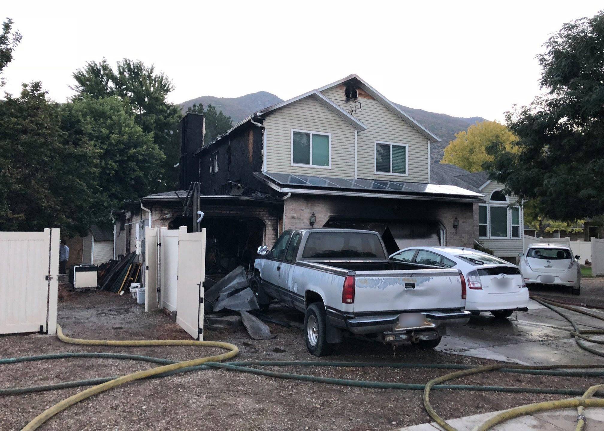weber county garage fire