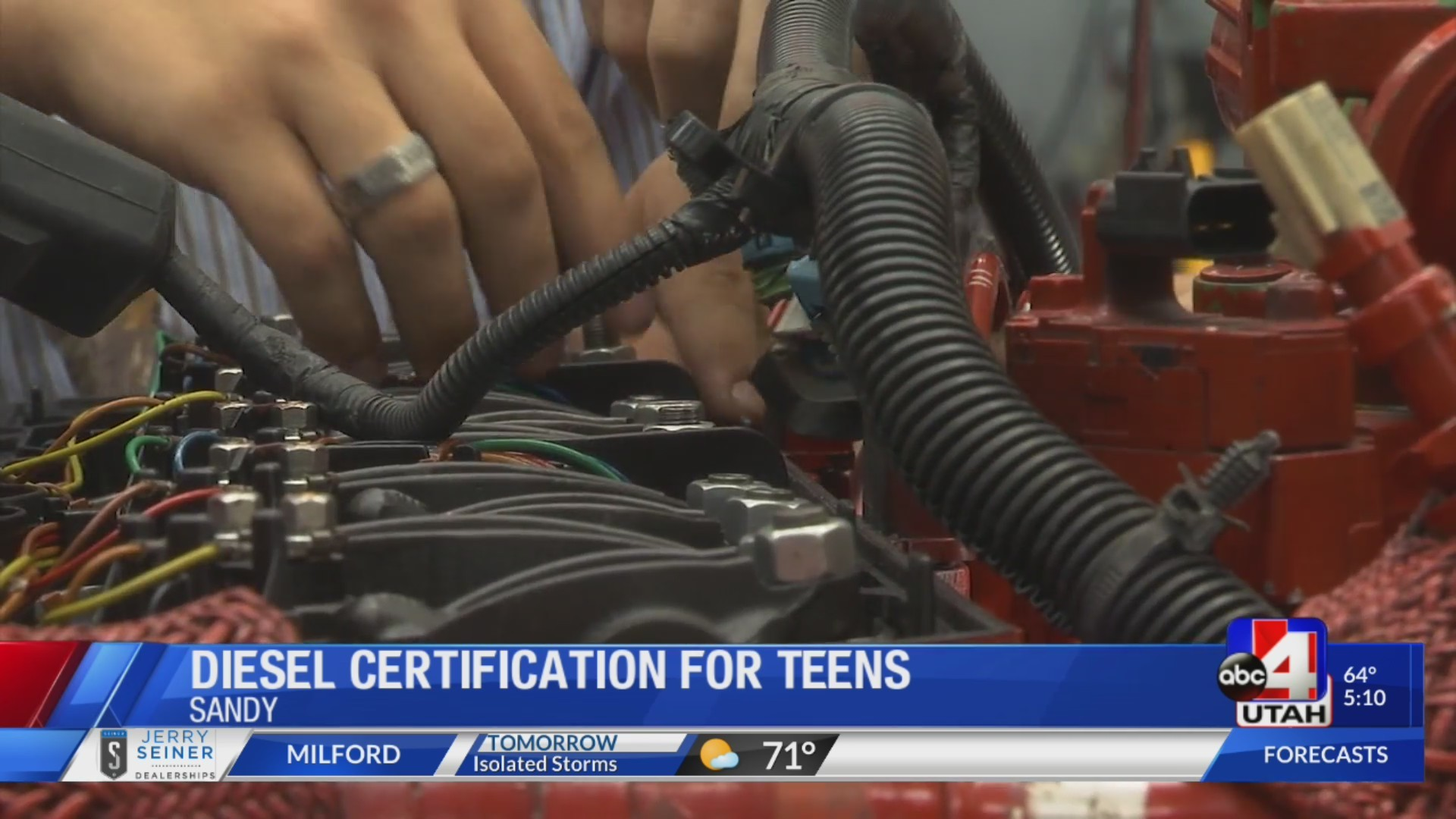 High schoolers get diesel certification at CTEC