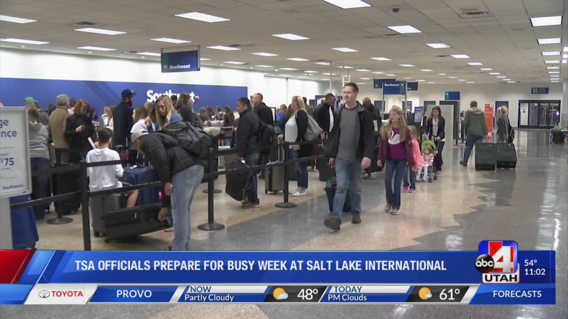 TSA officials prepare for busy week at Salt Lake International