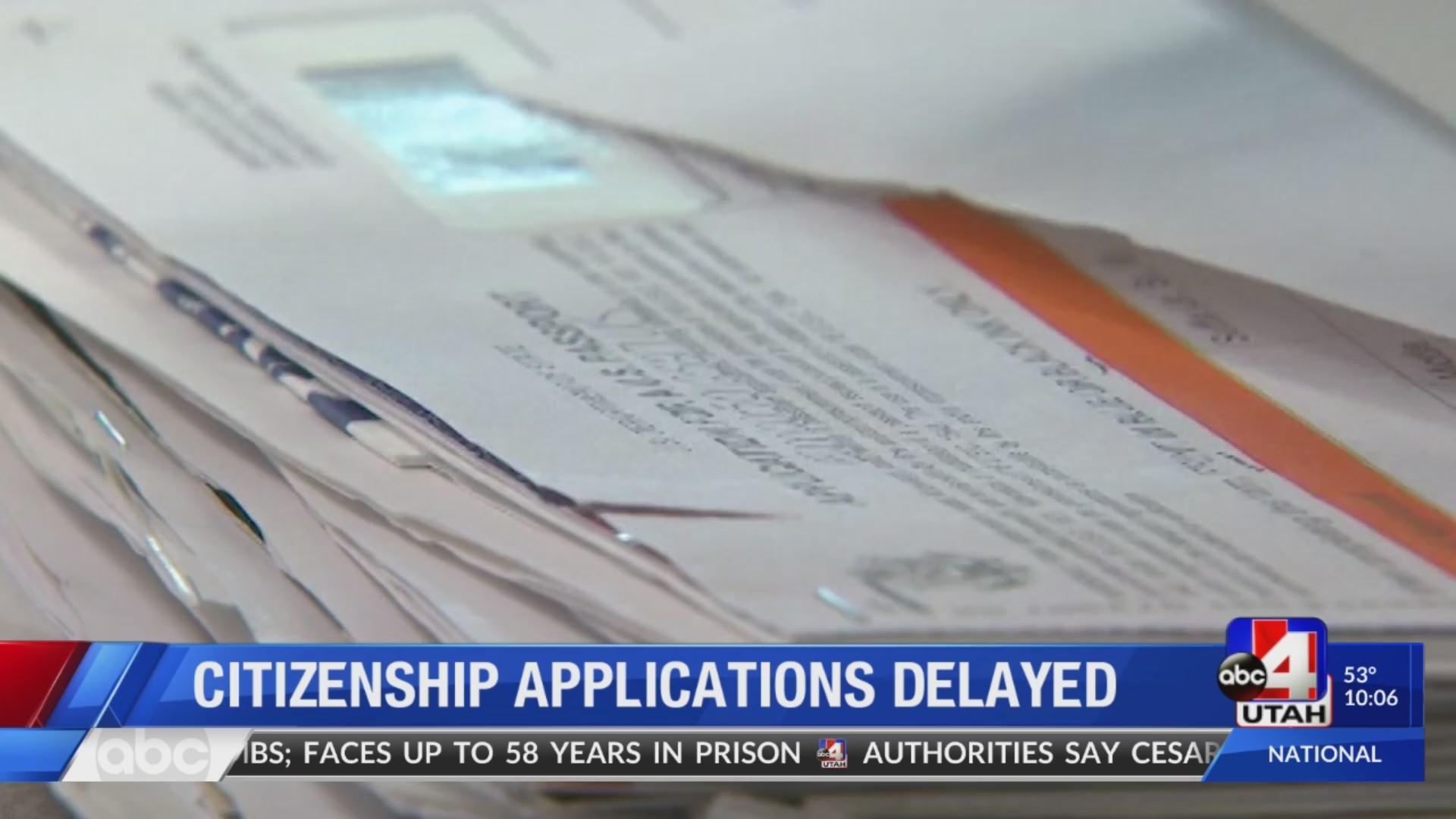 Utahns respond to U S  citizenship application delays