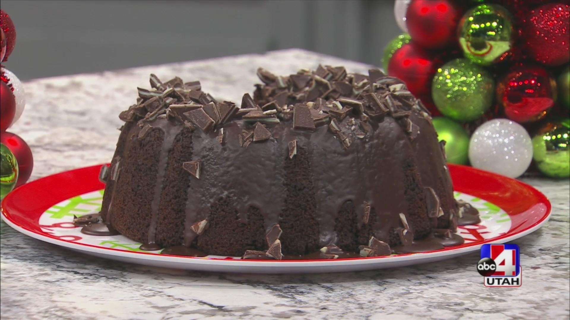 Andes Mint Bundt Cake