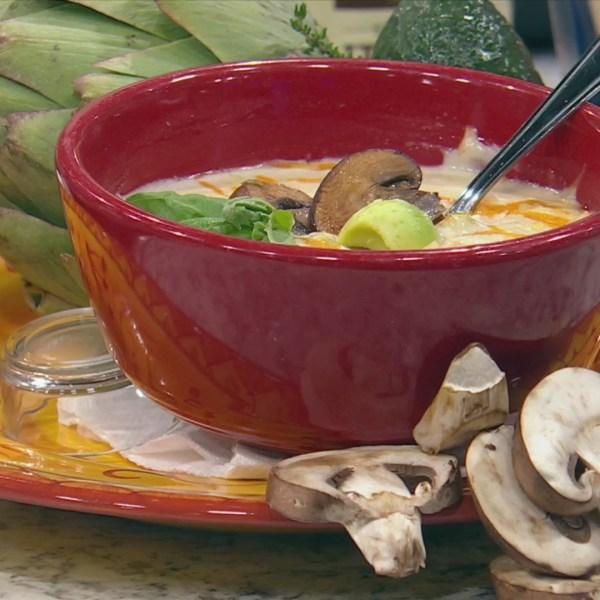 Chicken artichoke bella soup