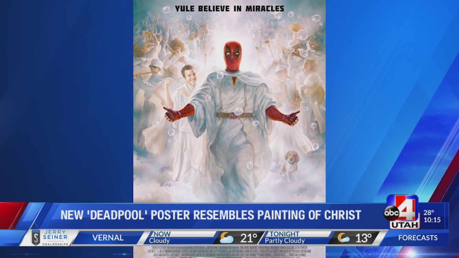New Deadpool movie poster resembles painting of Jesus Christ often used by the LDS Church