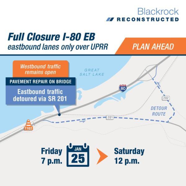 UDOT I-80 closure