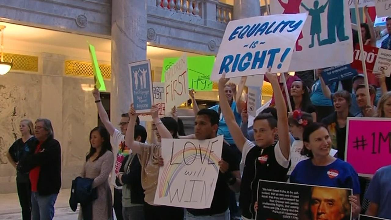 LGBTQ advocates at Utah State Capitol