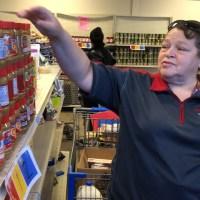 Theresa Chadwick at CCS food pantry