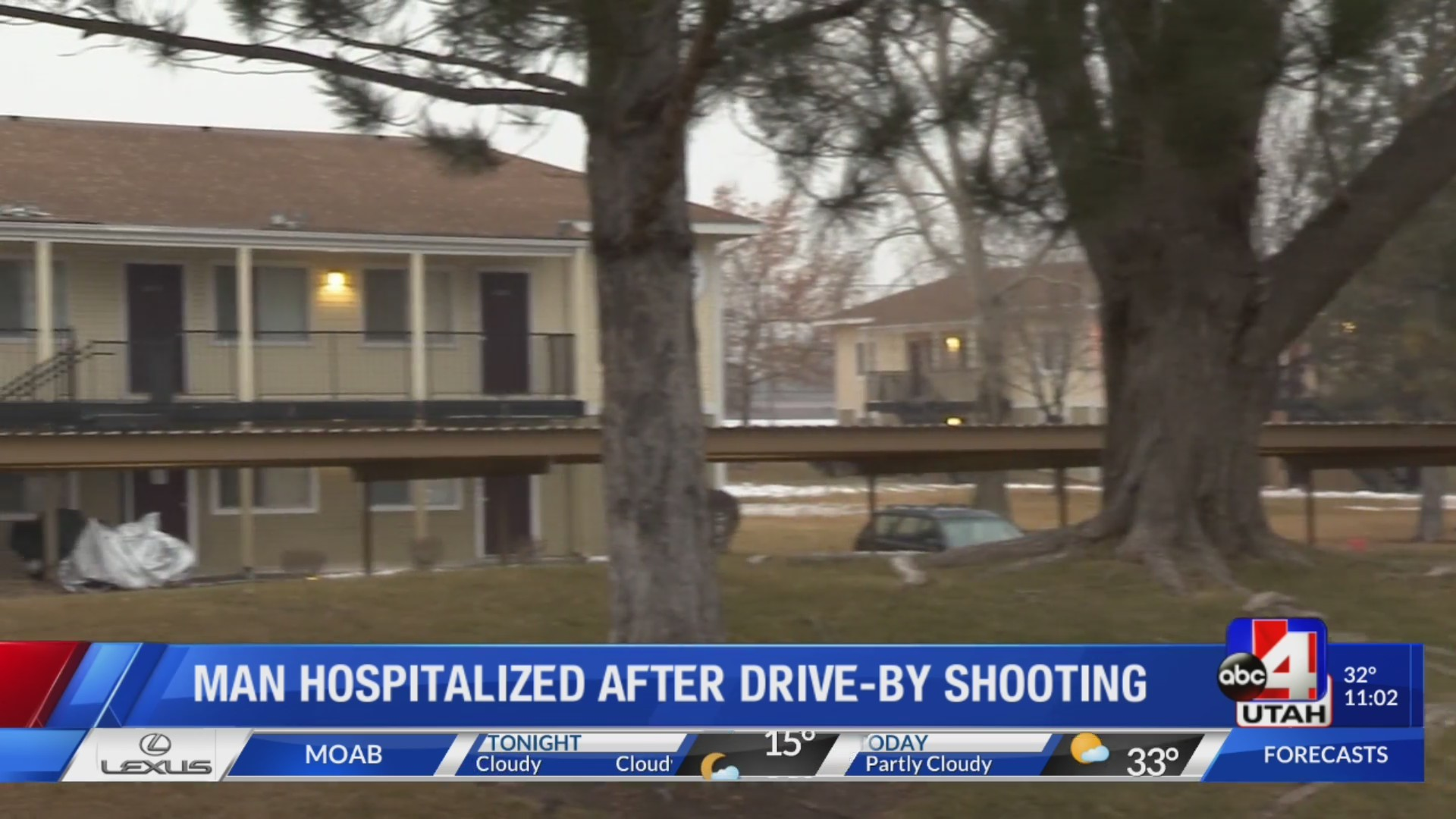 Man hospitalized after drive-by shooting
