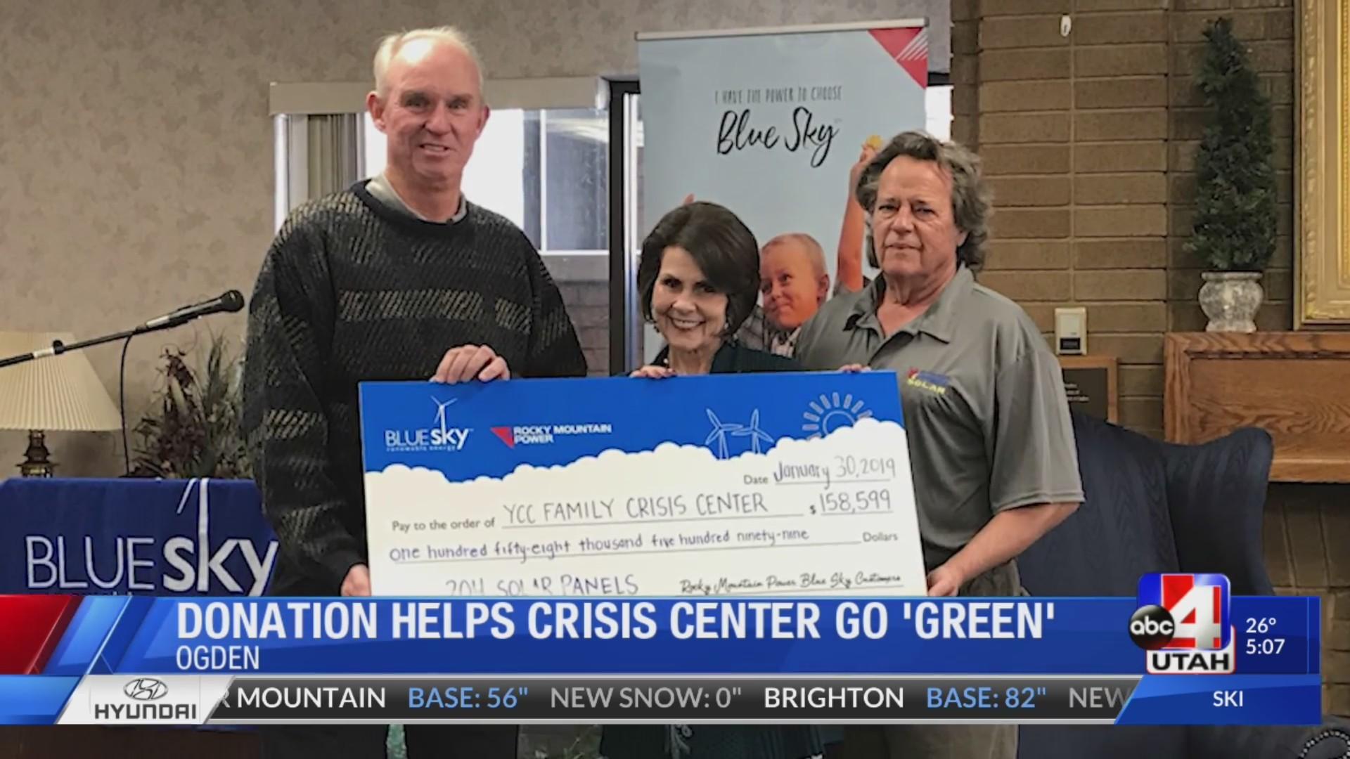 solar donation for crisis center
