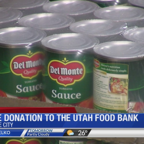 Large donation to the Utah Food Bank