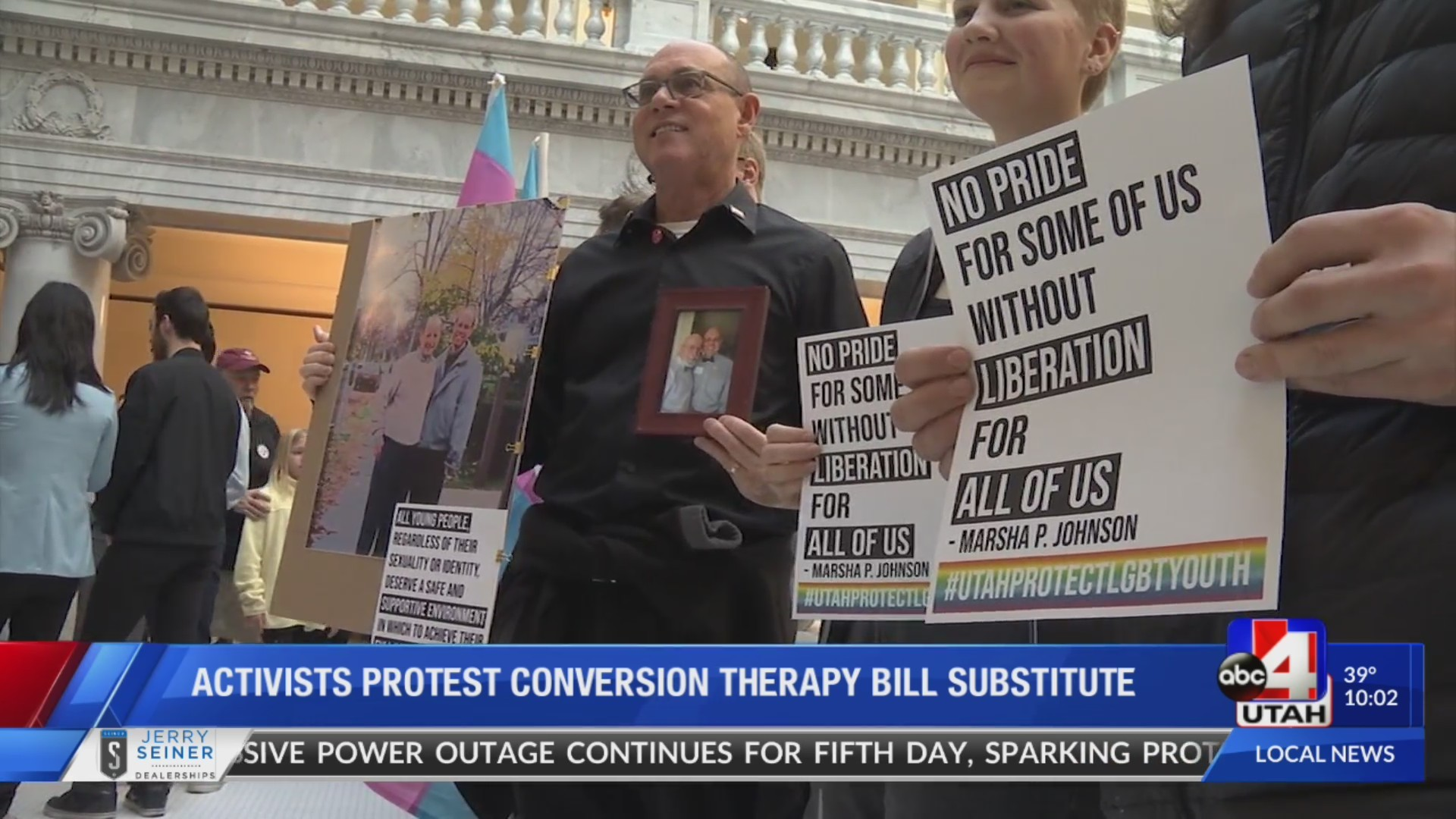LGBTQ activists protest conversion therapy substitution bill