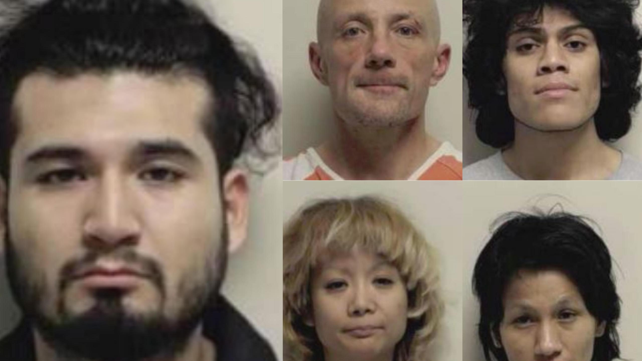 Narcotics worth thousands of dollars seized, 5 arrested in Payson