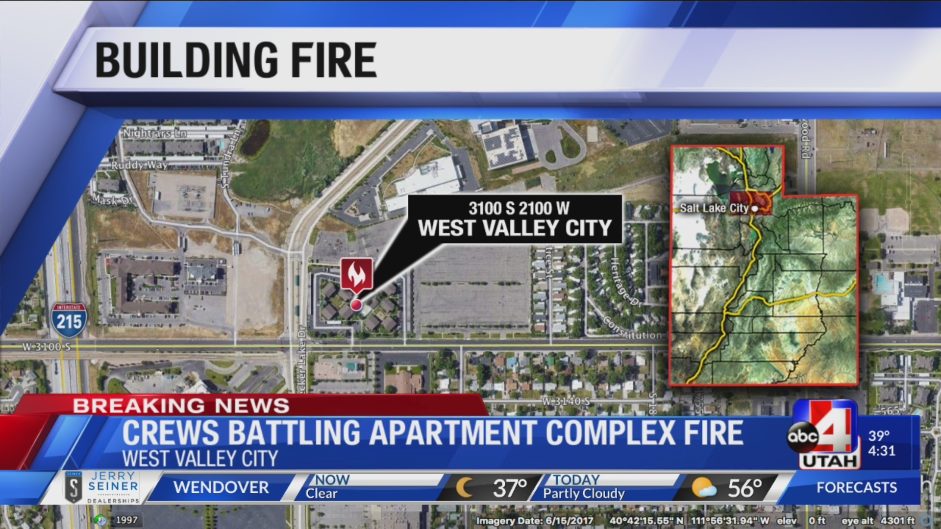 WEST VALLEY BUILDING FIRE