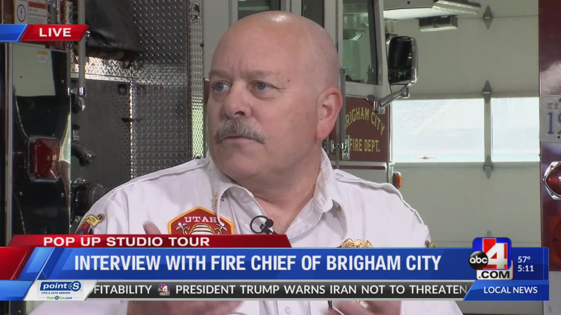 Interview with fire chief of Brigham City