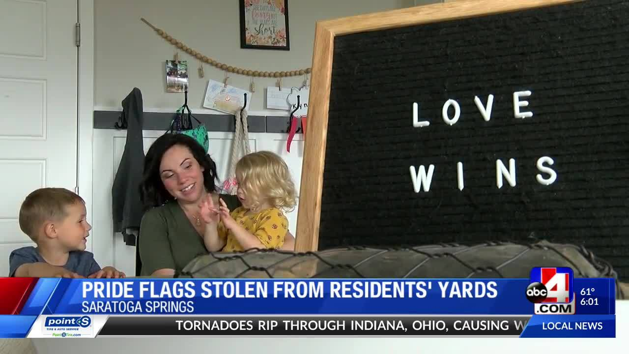 As Pride Week kicked off, more than 1,400 residents throughout the Wasatch Front displayed rainbow flags on their homes. But this past week, several Saratoga Springs neighbors said they were targets of theft.