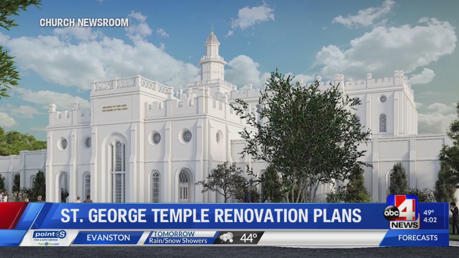 St. George Temple to close for two years