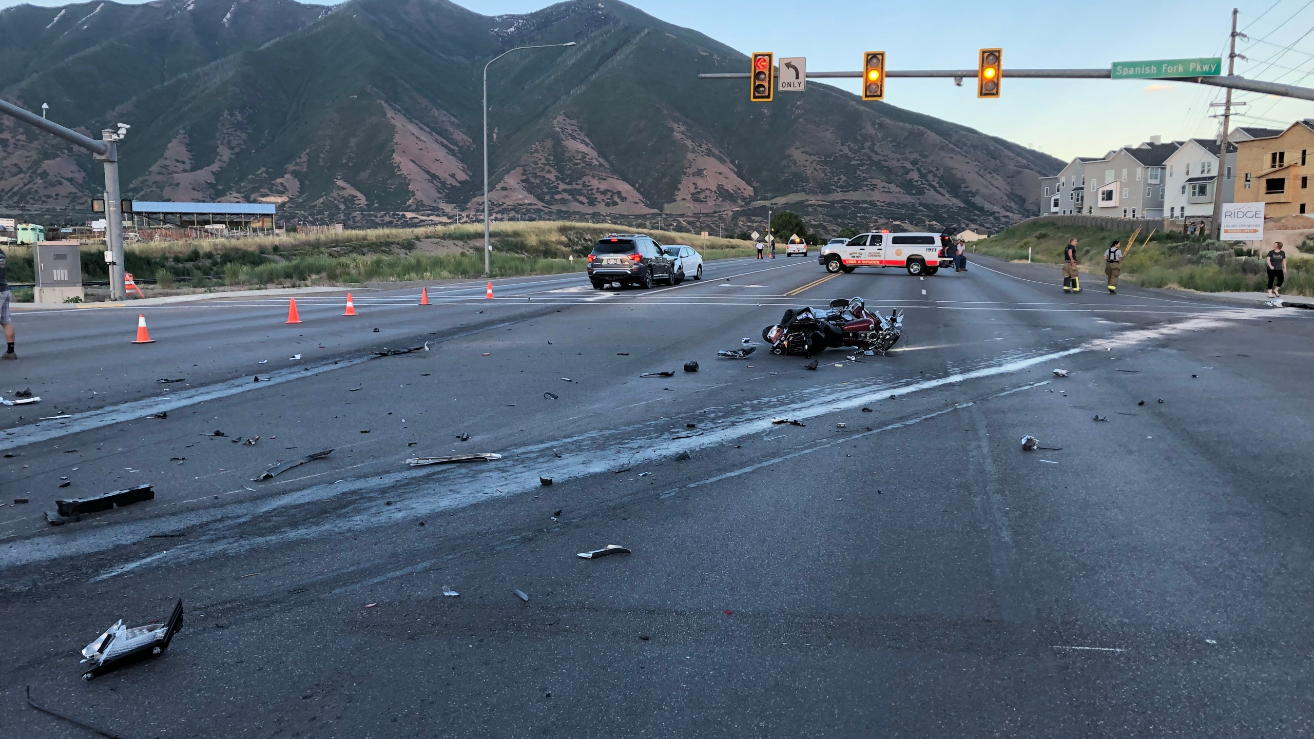 Woman dead, several injured after multiple-vehicle crash in Spanish Fork