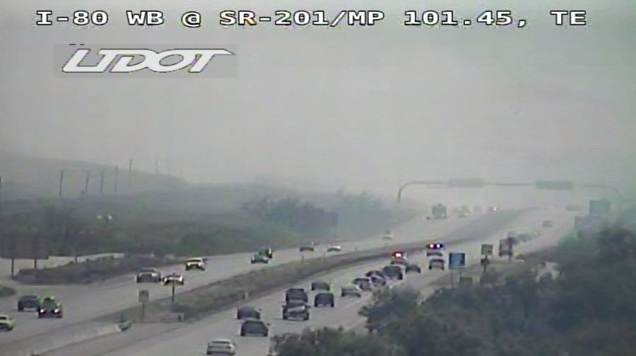 I-80 east reopened after crews battle brush fire near SR 201