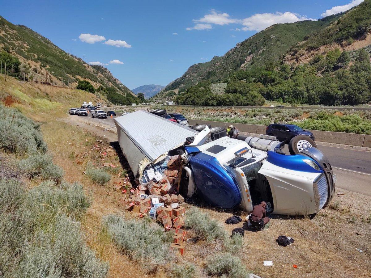 8 semi crashes in 2 days wreak havoc on Utah's roadways