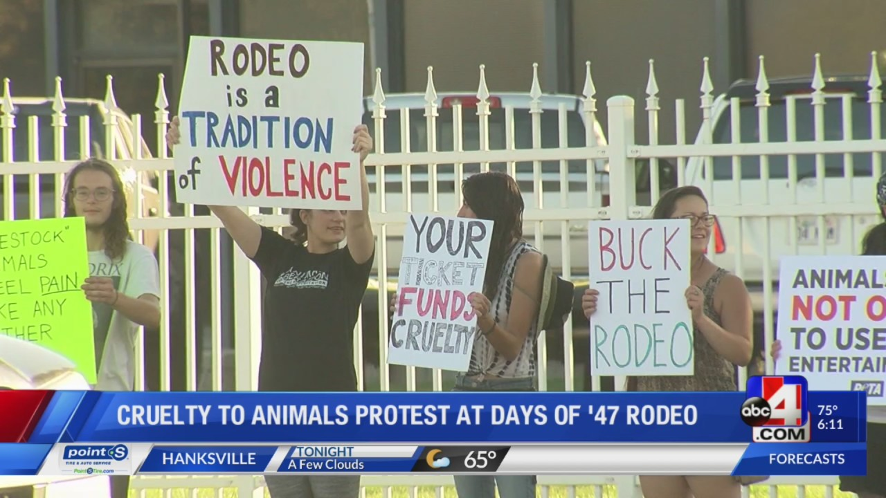 Utah Animal Rights Coalition Protests Days Of 47 Rodeo