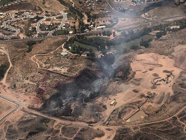 Outbuilding destroyed in fire near La Verkin