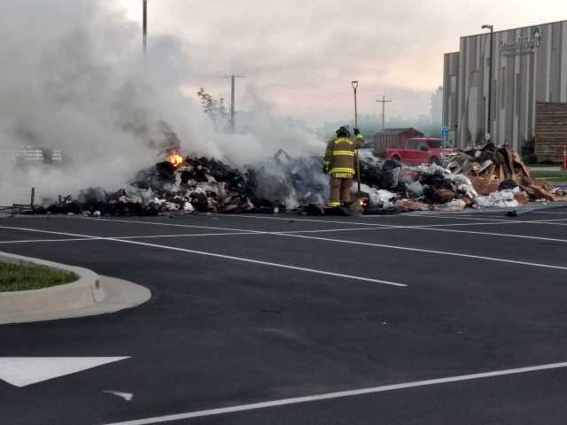 Classes canceled at Harrisville charter school after trash fire in parking lot