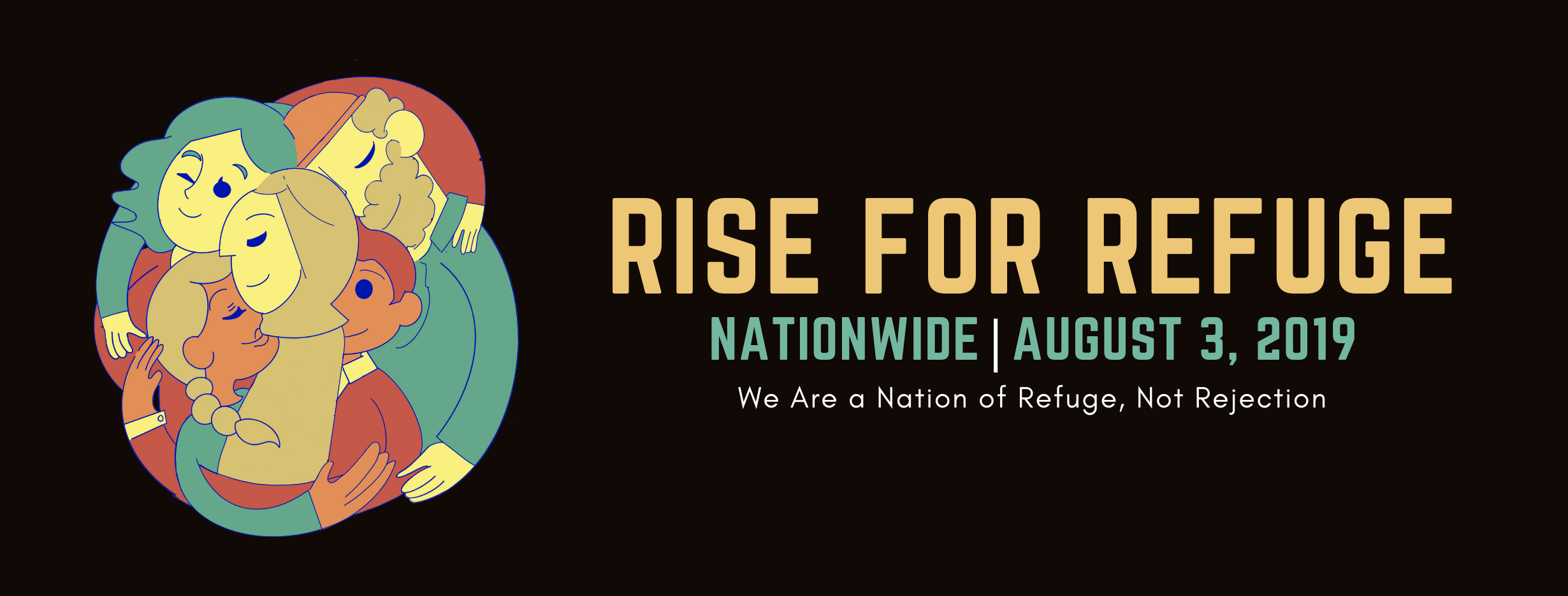 "salt lake city participated in ""rise for refuge"" event Saturday, Aug.3, 2019"
