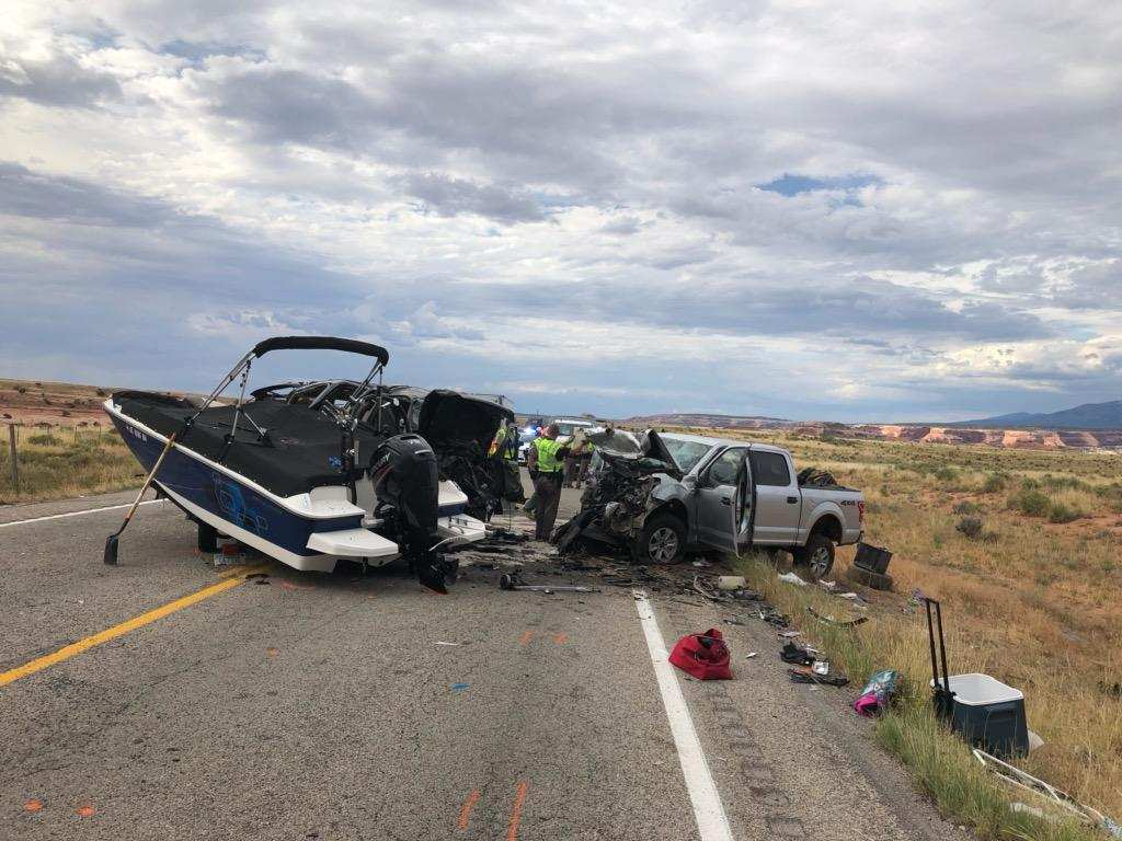 Deadly car crash in San Juan County Aug. 3, 2019 (photo: Utah Department of Public Safety)