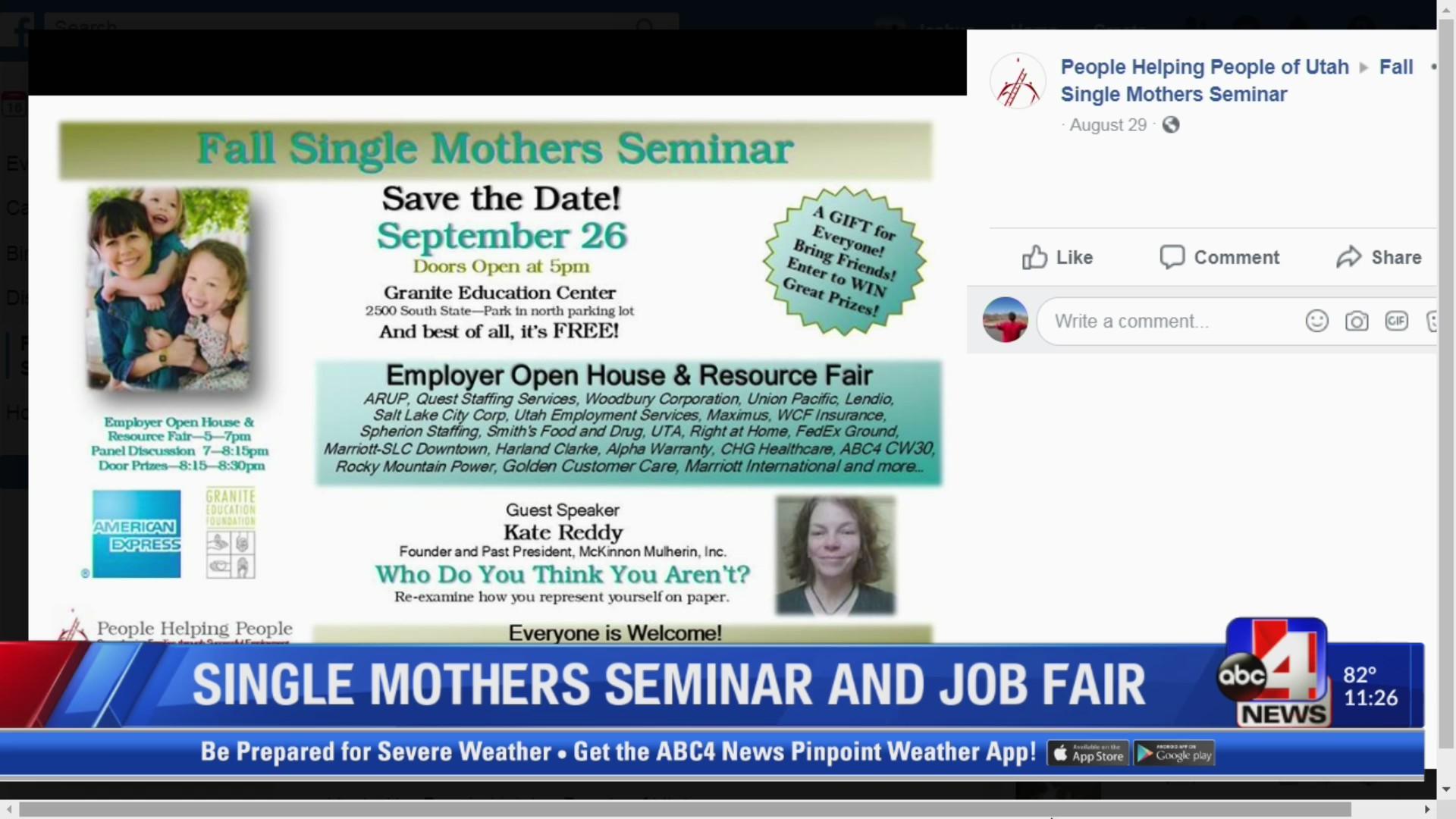 Single Mothers Seminar And Job Fair