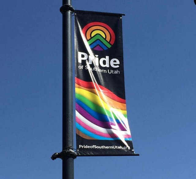 Rainbow banners advertising Southern Utah Pride week become politicized