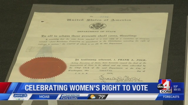 Utah celebrates 100 years of women's suffrage in the state