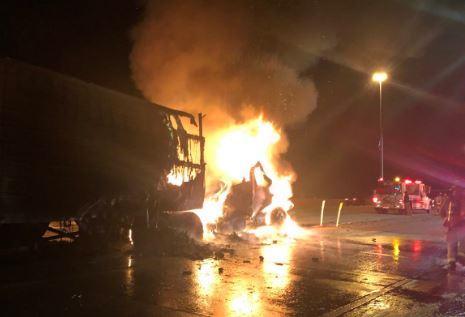 Mattress, semi fire slows traffic on I-15 in Provo