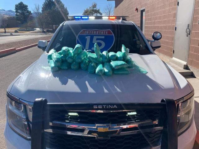 Southern Utah troopers find 40 lbs of meth, other drugs during stop on I-15