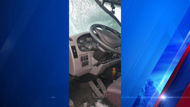 Flying ice smashes FedEx truck windshield, driver/UHP warn of danger